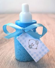 papfles baby blauw badkaviaar cadeau babyshower