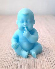 zeepje baby blauw jongen babyshower zeepjes vinger in mond